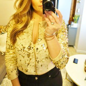 Forever 21 SPARKLE Blazer - Rose Gold Sequins- S